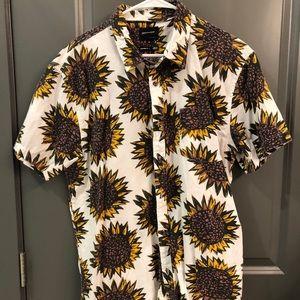 Sunflower Quiksilver short sleeve button down
